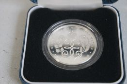 A 1990 QUEEN ELIZABETH THE QUEEN MOTHER 90TH BIRTHDAY SILVER PROOF CROWN, in Royal Mint case