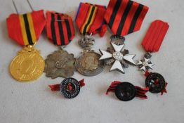 A GROUP OF BELGIAN MEDALS, to include a Leopold 1865-1905 Jubilee Issue, a Civil Merit Cross with