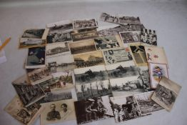 """A COLLECTION OF WWI INTEREST POSTCARDS, to include comic, """"'Old Bill""""' types and a quantity of"""