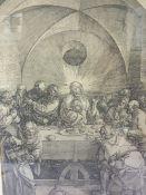 AFTER ALBRECHT DURER (1471-1528). German school, 19th century religious interior scene with Jesus