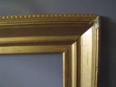 THREE 19TH CENTURY GOLD FRAMES, rebates 47 x 62 cm, 31 x 39 cm and 57 x 41 cm (3)