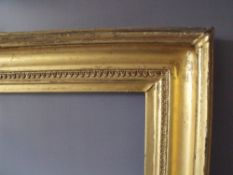 A LATE 18TH / EARLY 19TH CENTURY GOLD FRAME, frame W 9 cm, frame rebate 61 x 51 cm