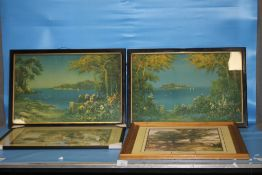 TWO VINTAGE PRINTS OF SEASCAPES ALONG WITH TWO REPRODUCTION PRINTS (4)