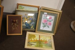 A SMALL QUANTITY OF FRAMED AND GLAZED PRINTS