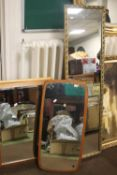 FOUR ASSORTED MIRRORS