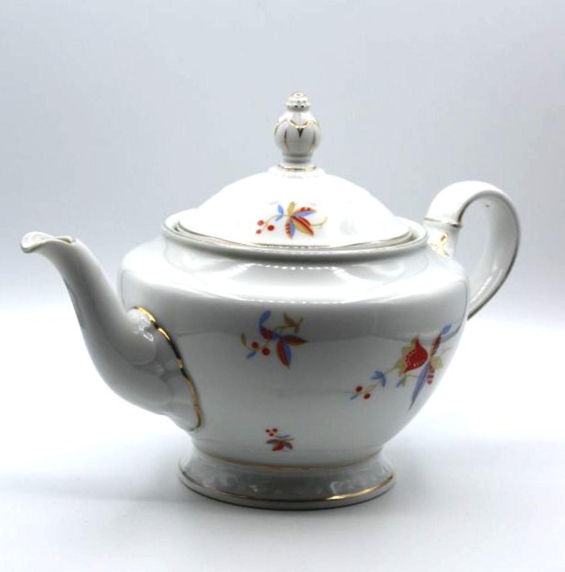 Teekanne, Rosenthal Empire, Art-Déco Dekor, H-18cm.<