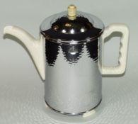 """Kaffeekanne """"Fürstenberg"""" mit versilb. Ummantelung um 1930, H-22 c"""