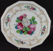 "gr. PLatte ""Rosenthal"" Maria weiss, Entw. Ph. Rosenthal,floral handbemalt und signiert, D-35 cm"