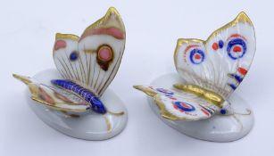 """Zwei kleine Schmetterlinge """"ENS"""",Goldbemalung,L-4,5cm"""