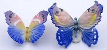 """Zwei Schmetterlinge """"ENS"""",bemalt,L-7,5-9,0cm"""
