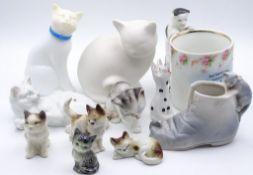 Konvolut div. Katzen+ einer Tasse mit Darstellung Bad Oeynhausen,tw.gemarkt,