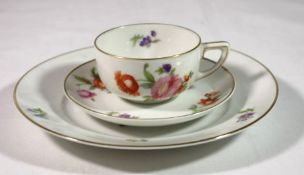 Mokka-Gedeck, Rosenthal, älter, florales Dekor, Tasse H-4cm.