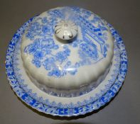 "Butterglocke ""China blau"", D-15 cm, H-6 cm, tw."""""""""