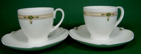 2xVilleroy & Boch Montserrat Paloma Picasso: kl. Kaffeetasse / Tasse mit Unterteller im