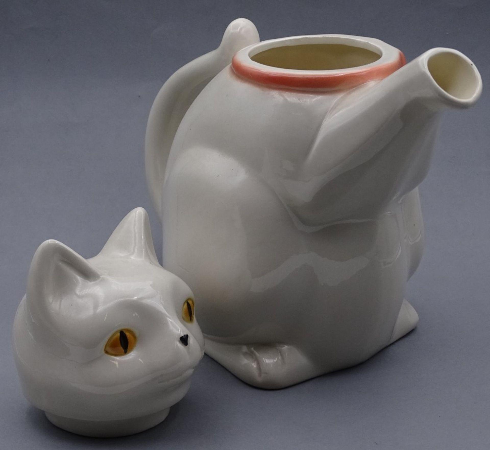 "Goebel Porzellan Kanne ""Katzenkanne""H-22,5cm - Bild 5 aus 5"