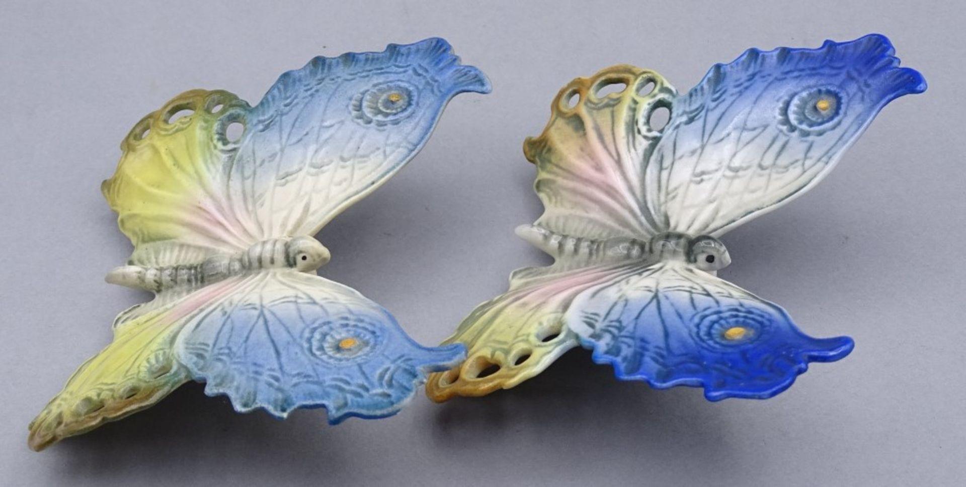 Los 1045 - Zwei ENS Schmetterlinge,im Boden gemarkt,9,0x9,5cm