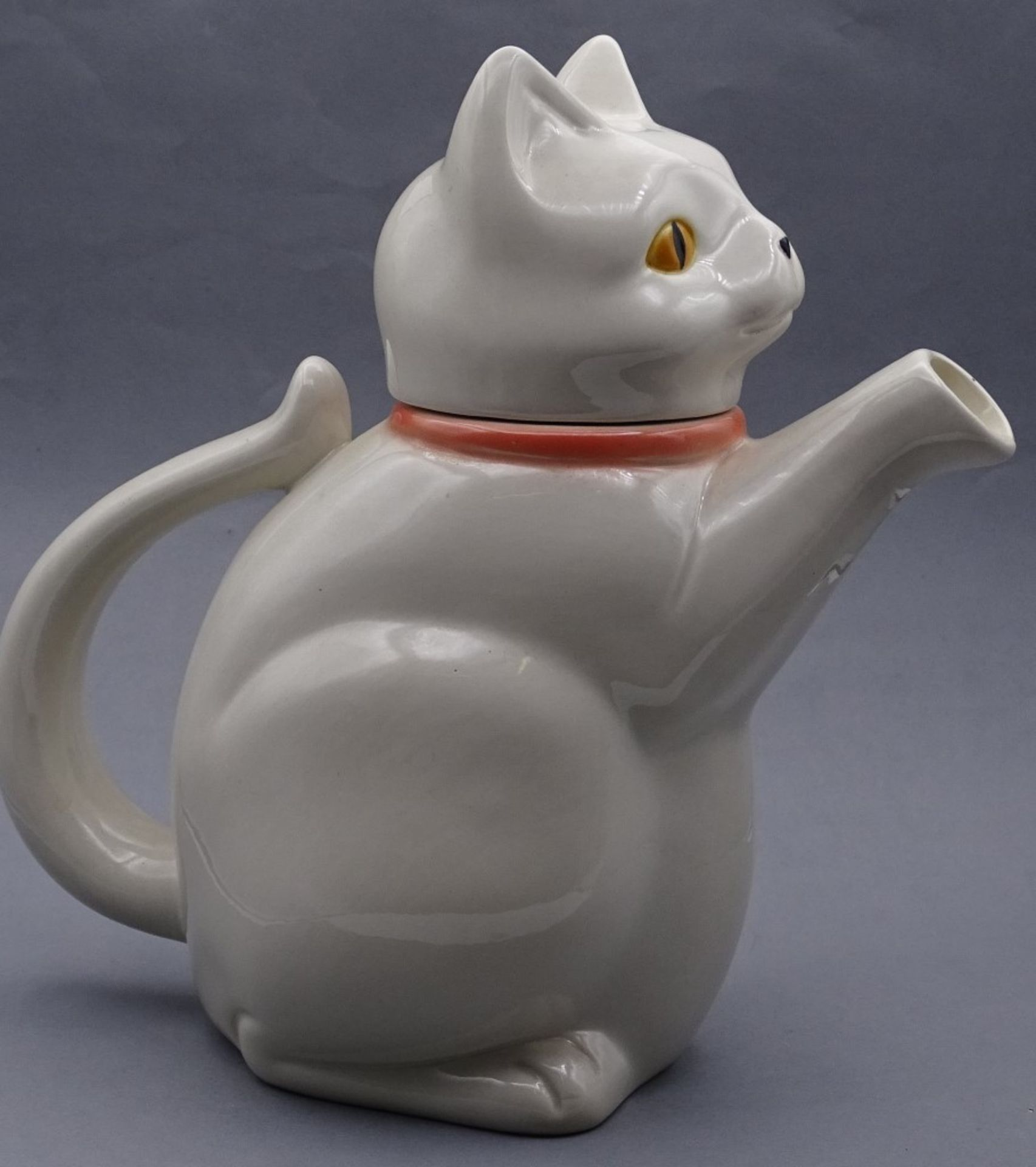 "Goebel Porzellan Kanne ""Katzenkanne""H-22,5cm - Bild 3 aus 5"