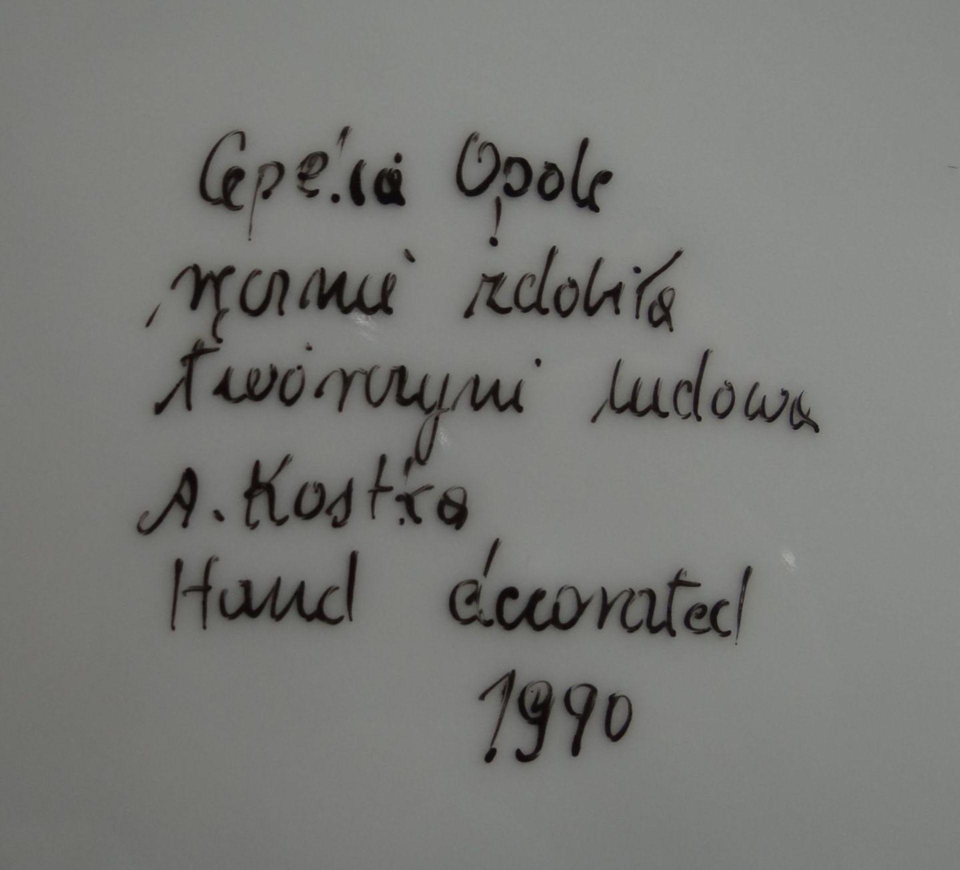 Los 1021 - handbemaltes Kaffeeservice, Opole/Polen,polnisch beschriftet und sign. A.Kostka, für 6 Personen