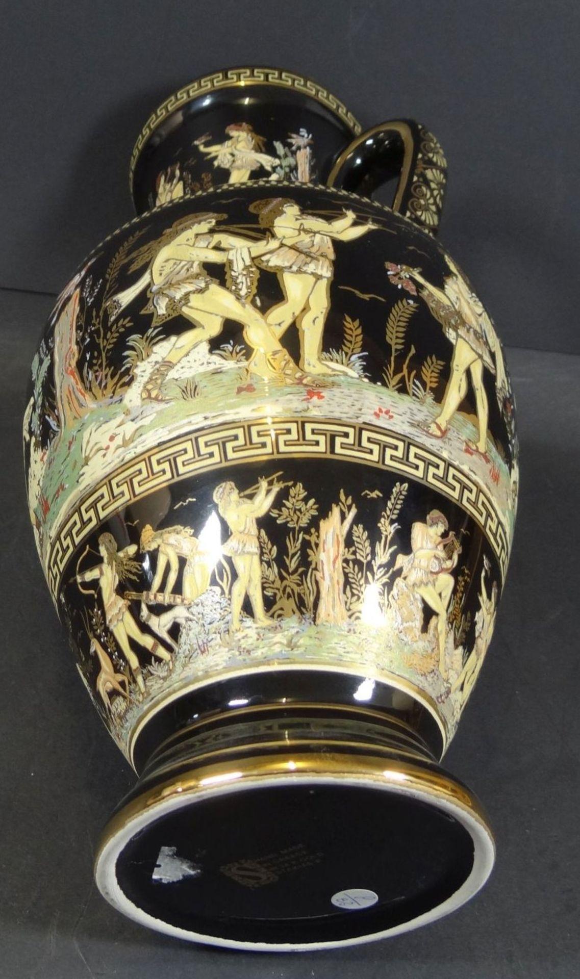 Los 1011 - gr. Henkelvase mit antikis. griechischen Motiven bemalt, Greece Handarbeit, H-30 cm