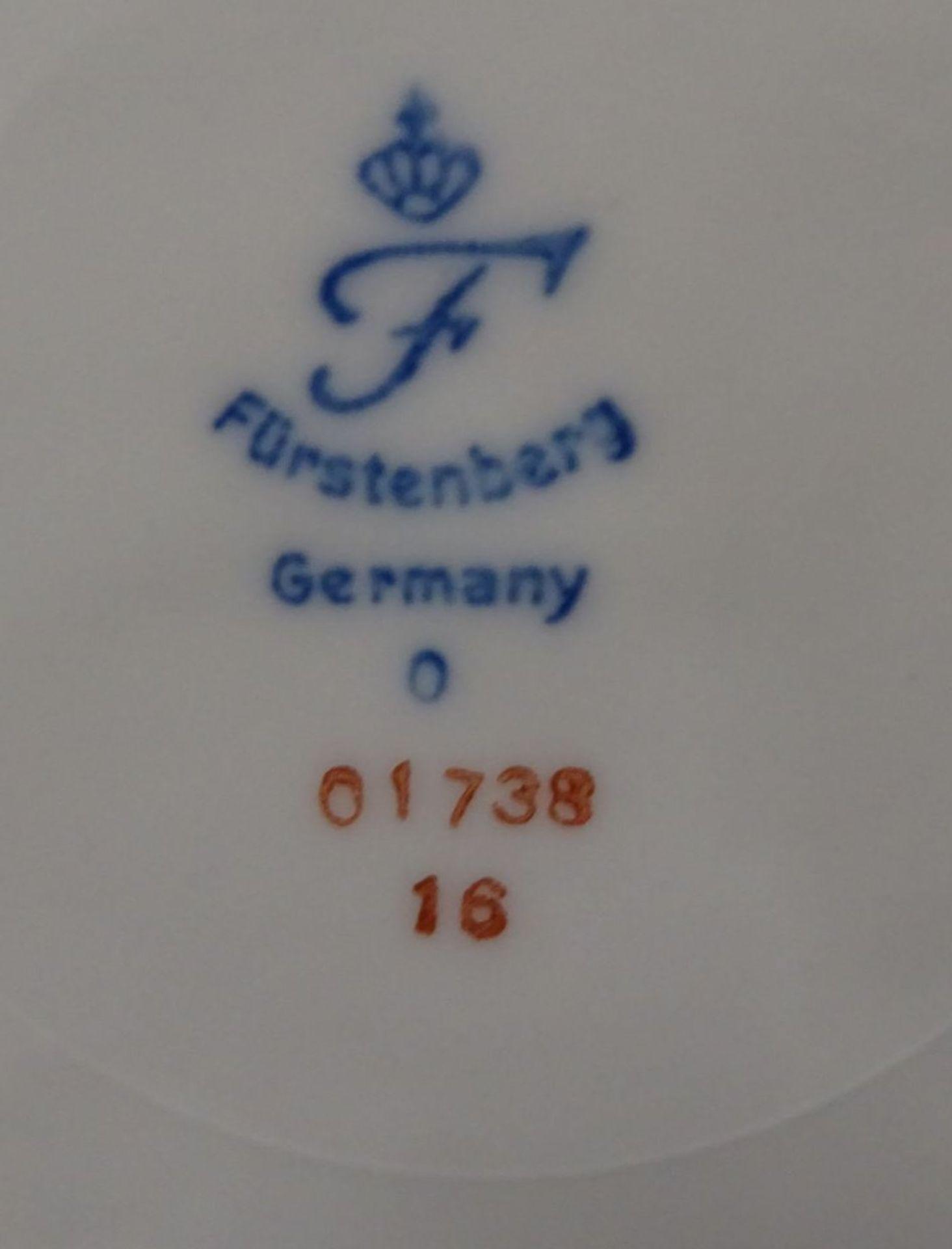 """Los 1015 - Teller mit 6 Tellerchen """"Fürstenberg"""" Obstset, D-24 und 18 c"""