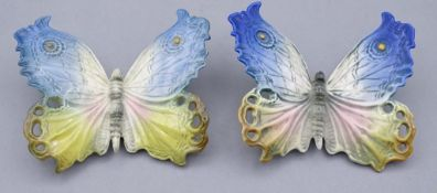 Zwei ENS Schmetterlinge,im Boden gemarkt,9,0x9,5cm