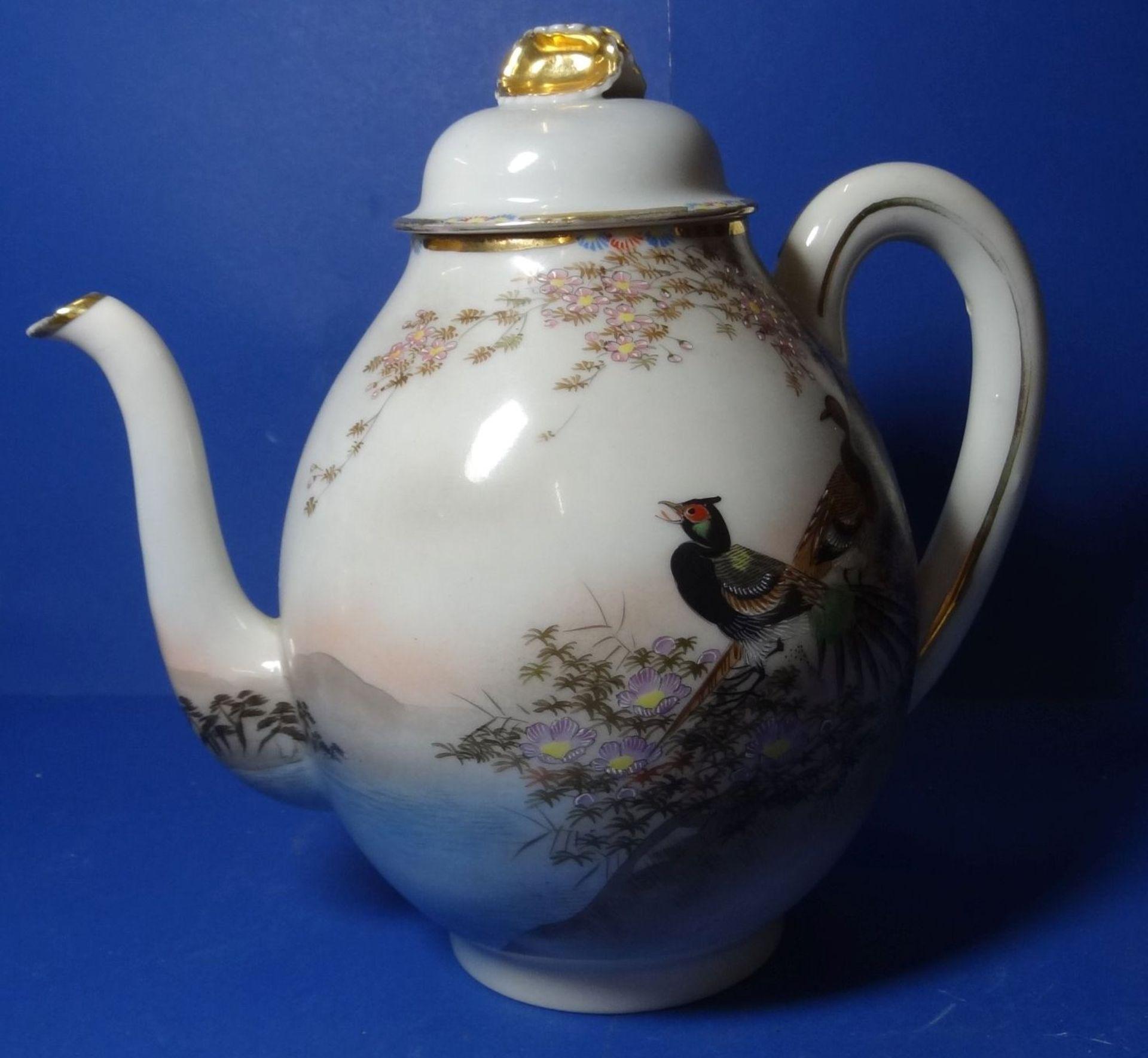 Los 1036 - Japan. Teekern mit 5 Kuchentellern, handbemalt, Fudjiyama-Motive, älte