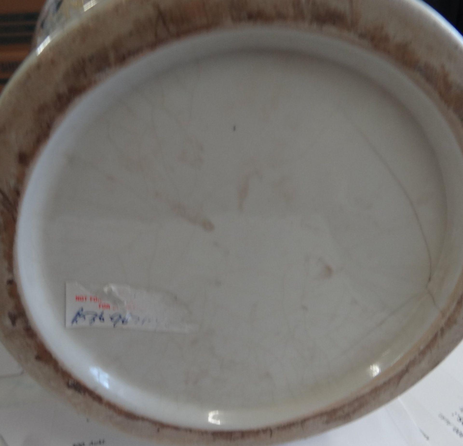 Los 1029 - grosse China-Vase, bemalt, H-48 cm, in Boden altrissig,