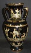 gr. Henkelvase mit antikis. griechischen Motiven bemalt, Greece Handarbeit, H-30 cm