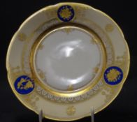 "Mittelteller ""Dresden"" Ambrosyus Lamm, Goldstaffage, D-19,5 cm, guter Zustand"
