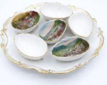 Eier Teller mit Bad Grund Ansichten,ungemarktes Stück,d-20,5c