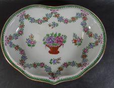 """herzförmige Schale mit Blumenranken """"""""Potschappel-Dresden"""", 26x20 c"""