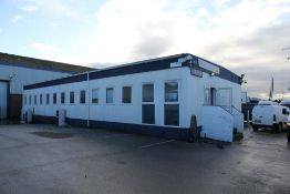 7 Bay Modular Office / Classroom / Studio Building - 21m x 9.6m & Jack Leg Toilet / Kitchen Cabin