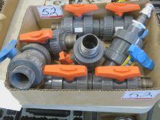 LOT - GF + LD PVC ASSTD VALVES