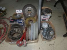 LOT - MASTERCRAFT+ GENERAL WIRE BRUSHES GRINDING STONES + DISCS