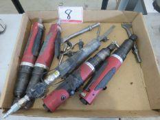 LOT - SIOUX PNEU SCREW GUNS + GENERAL FILE (5PC)