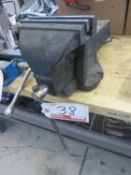 """GREY STEEL 8"""" BENCH VISE (VISE ONLY - NO TABLE)"""
