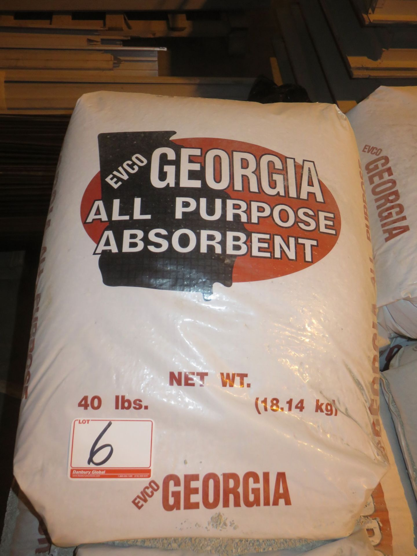 Lot 6 - BAGS - GEORGIA ALL PURPOSE OIL ABSORBENT (40 LBS/BAG)