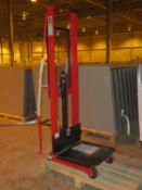 """NEW - DAYTON 2MPT3 1000LBS CAP HYDRAULIC (FOOT ACTIVATED) 24"""" X 24"""" X 80"""" LIFT PORTABLE DIE LIFT"""