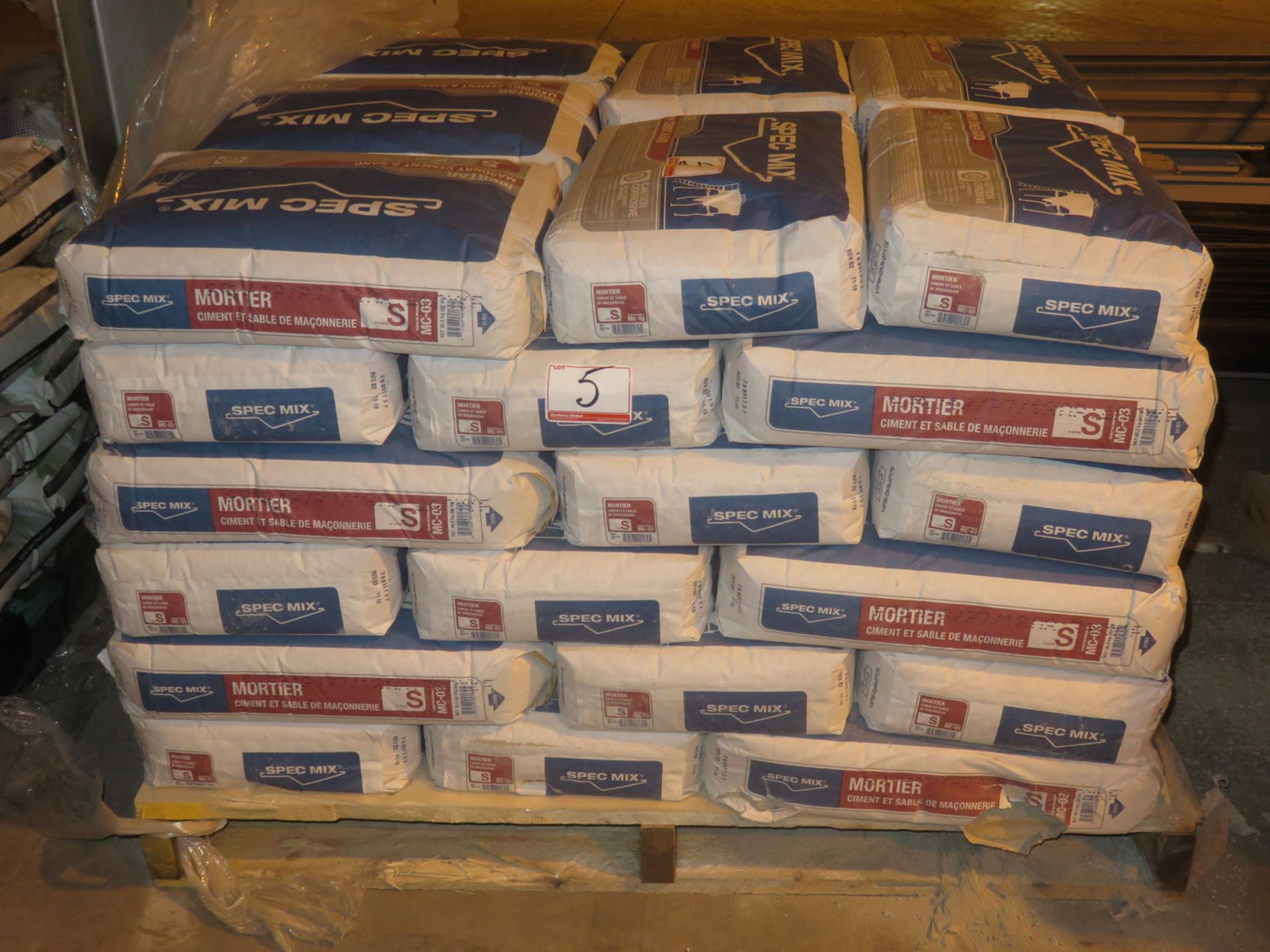 Lot 5 - BAGS - SPEC MIX MC-03 MORTAR MASONRY CEMENT & SAND (36.3 KG/BAG)
