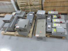 LOT - SQUARE-D, EATON, ASSTD BREAKER BOXES & PANELS