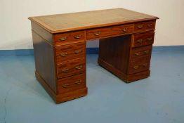 Großer, englischer Schreibtisch, viktorianisch, Ende 19. Jhd.