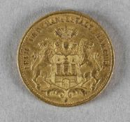 Goldmünze, 20 Mark, Hamburg, 1893 J