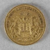 Goldmünze, 20 Mark, Hamburg, 1878 J