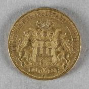 Goldmünze, 20 Mark, Hamburg, 1884 J
