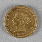 Goldmünze, 2,5 Dollar (Liberty Head), USA, 1853