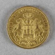Goldmünze, 20 Mark, Hamburg, 1895 J
