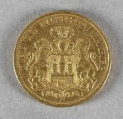 Goldmünze, 20 Mark, Hamburg, 1887 J