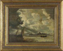 """Dietz-Replik nach dem Gemälde """"Flussmündung"""" von Jan van Goyen (Kunsthalle Bremen), auf"""