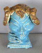 Kopf eines Fauns mit Flöte, Ende 20. Jh.