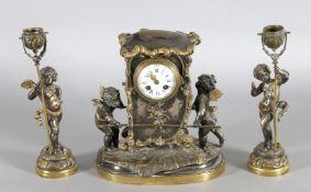 Ausgefallene Pendule Napoleon III, Paris, um 1855-60